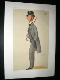 Vanity Fair Print: 1876 Lord Alington, Sport. Spy Litho